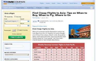 http://www.farecompare.com/travel-advice/find-cheap-flights-to-asia-tips-on-when-to-buy-when-to-fly-where-to-go/