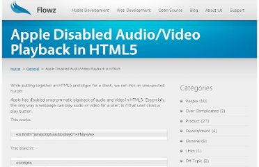 http://flowz.com/2011/03/apple-disabled-audiovideo-playback-in-html5/