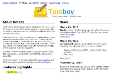 http://projects.gnome.org/tomboy/?pagewanted=all
