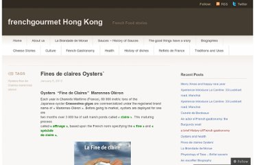 http://frenchgourmethk.wordpress.com/2012/01/05/fines-de-claires-oysters/