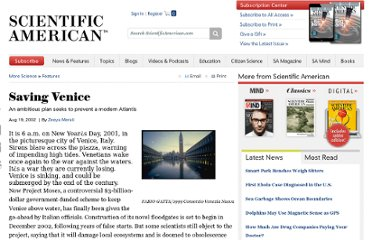 http://www.scientificamerican.com/article.cfm?id=saving-venice
