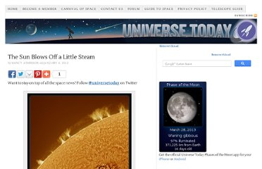http://www.universetoday.com/92371/the-sun-blows-off-a-little-steam/