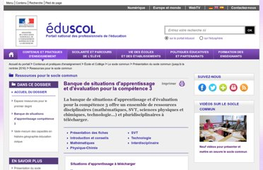 http://eduscol.education.fr/cid55510/banque-de-situations-d-apprentissage-competence-3.html