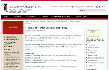 http://www.law.umaryland.edu/academics/journals/jhclp/past_issue.html