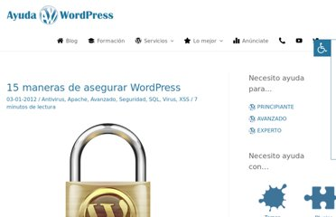 http://ayudawordpress.com/seguridad-wordpress/