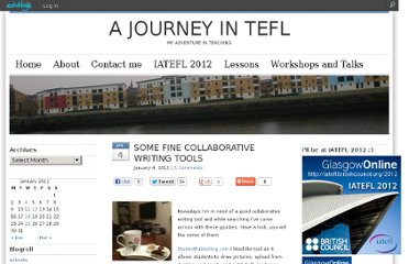 http://evasimkesyan.edublogs.org/2012/01/04/some-fine-collaborative-writing-tools/