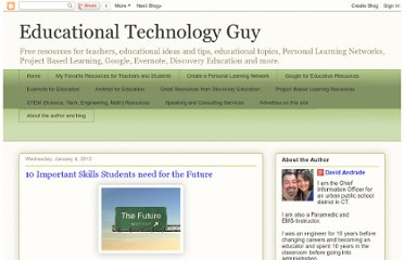 http://educationaltechnologyguy.blogspot.com/2012/01/10-important-skills-students-need-for.html