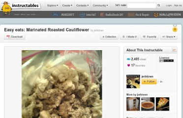 http://www.instructables.com/id/Quick-eats-Marinated-Roasted-Cauliflower/