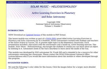 http://www.noao.edu/education/ighelio/solar_music.html