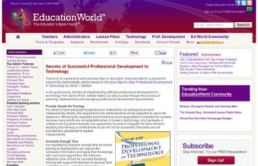 http://www.educationworld.com/a_admin/successful-professional-development-in-technology.shtml