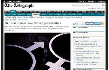 http://www.telegraph.co.uk/science/science-news/8992639/Men-and-women-have-distinct-personalities.html