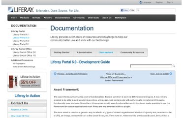 http://www.liferay.com/documentation/liferay-portal/6.0/development/-/ai/asset-framework