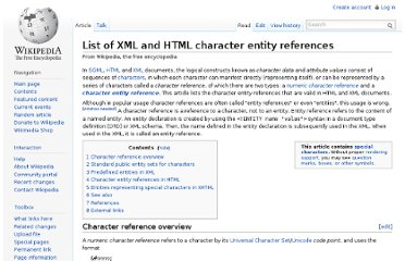 http://en.wikipedia.org/wiki/List_of_XML_and_HTML_character_entity_references