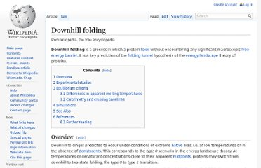 http://en.wikipedia.org/wiki/Downhill_folding