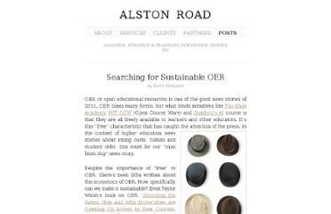 http://alstonroadgroup.com/2011/12/16/searching-for-sustainable-oer/