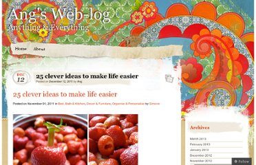 http://angelaadkins.wordpress.com/2011/12/12/25-clever-ideas-to-make-life-easier/