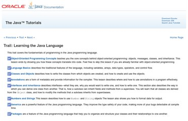 http://docs.oracle.com/javase/tutorial/java/index.html