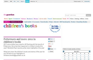 http://www.guardian.co.uk/childrens-books-site/2011/dec/28/2011-year-in-childrens-books