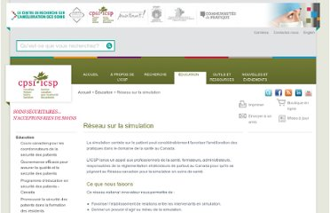 http://www.patientsafetyinstitute.ca/French/education/simulation/Pages/default.aspx