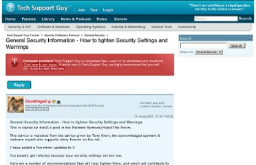 http://forums.techguy.org/general-security/603635-general-security-information-how-tighten.html