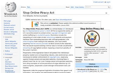 http://en.wikipedia.org/wiki/Stop_Online_Piracy_Act#Other