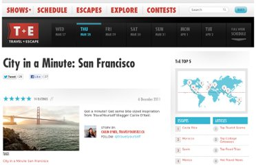 http://www.travelandescape.ca/2011/12/city-in-a-minute-san-francisco/