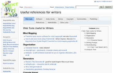 http://naperwrimo.org/wiki/index.php?title=Useful_references_for_writers