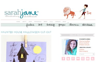 http://sarahjanestudios.com/blog/2011/10/haunted-house-halloween-craft/