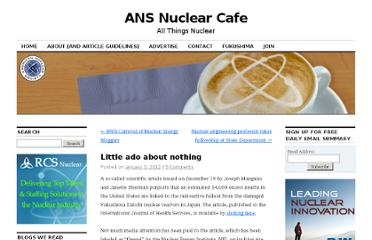 http://ansnuclearcafe.org/2012/01/03/little-ado-about-nothing/