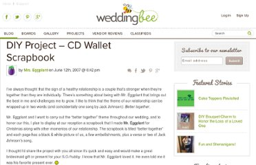 http://www.weddingbee.com/2007/06/12/eggplant-diy-project-cd-wallet-scrapbook/