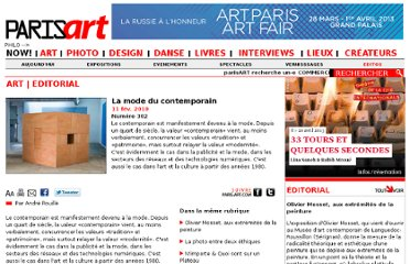 http://www.paris-art.com/art-culture-France/La%20mode%20du%20contemporain/302.html