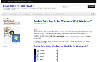 http://www.ccautosoft.com/2011/05/enable-auto-log-in-for-windows-xp-windows-7/
