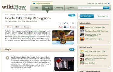 http://www.wikihow.com/Take-Sharp-Photographs