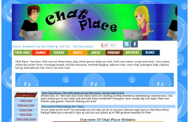 Chat Place - free teen chat room at #teenchatz, play online games while you ...