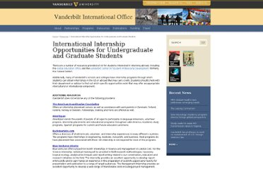 http://www.vanderbilt.edu/vio/resources/internships.php