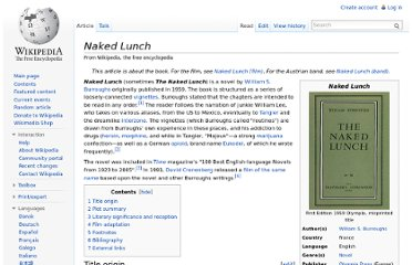 http://en.wikipedia.org/wiki/Naked_Lunch