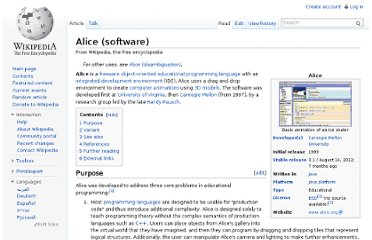 http://en.wikipedia.org/wiki/Alice_(software)