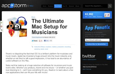 http://mac.appstorm.net/roundups/music-roundups/the-ultimate-mac-setup-for-musicians/
