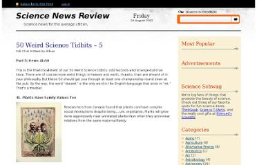 http://www.sciencenewsreview.com/50-weird-science-tidbits-5/