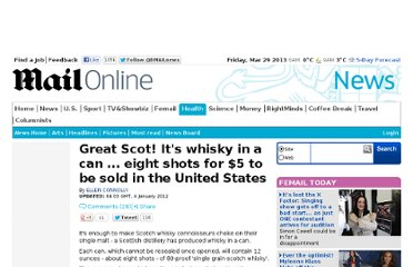 http://www.dailymail.co.uk/news/article-2081966/Great-Scot-Its-whisky---shots-5-sold-United-States.html