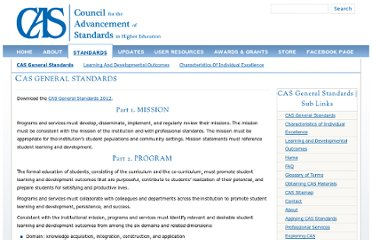 http://www.cas.edu/index.php/cas-general-standards/