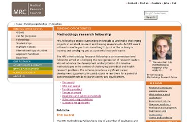 http://www.mrc.ac.uk/Fundingopportunities/Fellowships/Methodologyresearch/index.htm