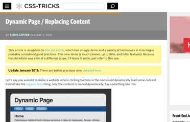 http://css-tricks.com/dynamic-page-replacing-content/