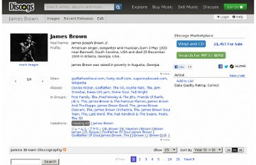 http://www.discogs.com/artist/James+Brown