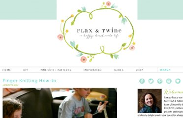 http://www.flaxandtwine.com/2012/01/finger-knitting-how-to.html