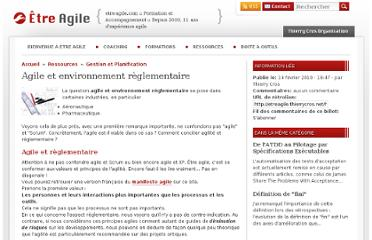 http://etreagile.thierrycros.net/home/index.php?post/2010/01/29/Scrum-XP-%3A-les-documents