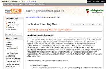 http://learninganddevelopment.swsi.wikispaces.net/Individual+Learning+Plans