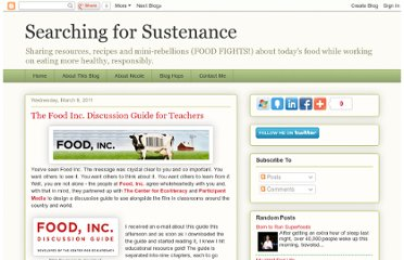 http://searchingforsustenance.blogspot.com/2011/03/food-inc-discussion-guide-for-teachers.html