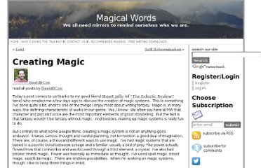 http://www.magicalwords.net/david-b-coe/creating-magic/