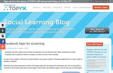 http://interactyx.com/social-learning-blog/facebook-apps-for-elearning/